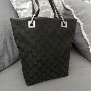 Gucci Monogram canvas & Leather black tote bag
